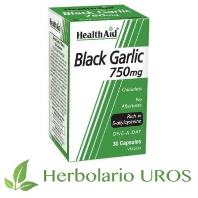 Ajo negro en capsulas