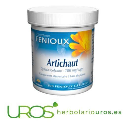 Alcachofa en cápsulas de Fenioux - tu diurético natural Cápsulas de alcachofa para la retención de líquidos - tu diurético natural Alcachofa pura en cápsulas de lab. naturales Fenioux con todas sus propiedades
