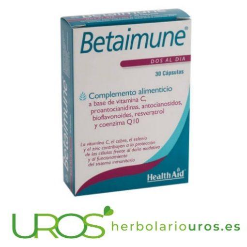 Betaimune Health Aid para tus defensas y potente antioxidante natural Betaimune de Health Aid: Ayuda para aumentar las defensas del organismo Un suplemento natural de laboratorios HealthAid para tu sistema inmune y un antioxidante natural para tu organismo