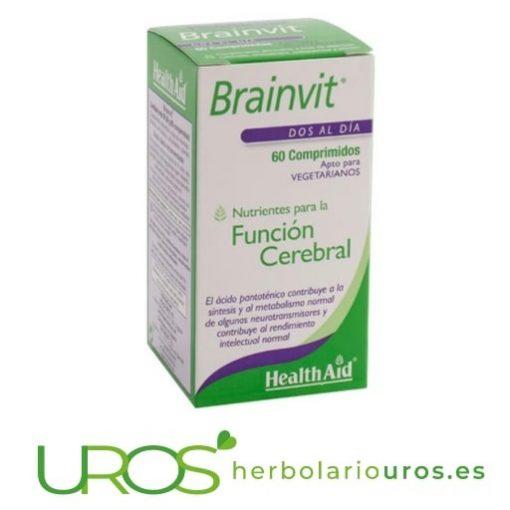 Brainvit HealthAid: nutrientes para tu cerebro Brainvit de Health Aid - suplemento natural para un cerebro sano Un suplemento natural alimenticiopensado para el buen funcionamiento cerebral