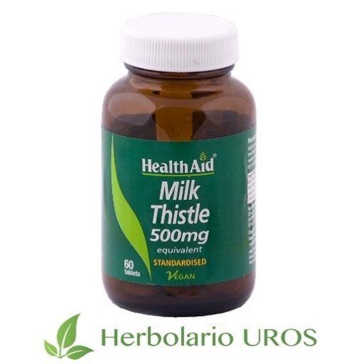 Cardo Mariano HealthAid Cardo Mariano en cápsulas Cardo Mariano puro Remedio natural hepático