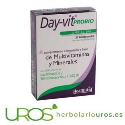 Day-vit Probio de HealthAid con minerales y vitaminas necesarios Day-vit Probio de HealthAid Minerales y vitaminas necesarios para tu bienestar en general y digestivo