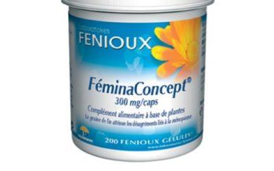 Feminaconcept de Fenioux - una ayuda natural para la mujer Feminaconcept un suplemento para ayudar en menopausia Un suplemento específico para la mujer - para problemas de salud de la mujer - un mayor equilibrio hormonal natural