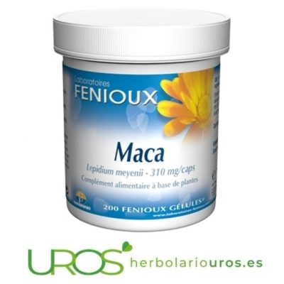 Maca pura cápsulas en suplemento natural de Fenioux Maca andina pura de Fenioux - Envase de 200 cápsulas