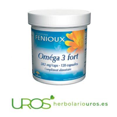 Omega 3 Forte de Fenioux - OMEGA 3 para tu corazón Omega 3 Forte de laboratorios naturales Fenioux Suplemento natural para bajar los niveles de colesterol, para la salud de tu corazón y para el sistema nervioso