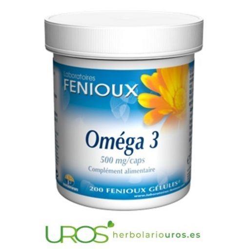 OFERTA en omega tres (Omega 3) envase grande de 200 perlas Corazón y cerebro - mejor con ácidos grasos omega 3 Omega tres de Fenioux Corazón y cerebro funcionan mejor con ácidos grasos omega 3