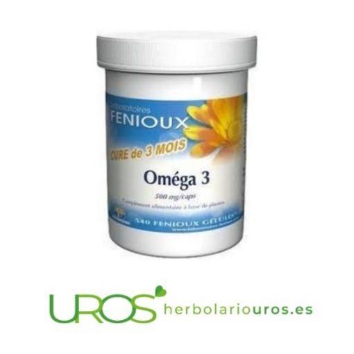 Omega 3 de Fenioux - 540 cápsulas de Omega tres en OFERTA Omega 3 de laboratorios naturales Fenioiux: Envase de 540 cápsulas Omega tres de lab. naturales Fenioux - una ayuda natural para tu corazón y colesterol alto