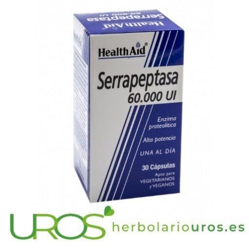 Serrapeptasa - enzima Serrapeptasa 60.000 UI de HealthAid Serrapeptasa pura de lab. HealthAid (Health Aid)