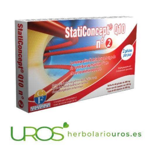 StatiConcept Q10 Nº2 - para bajar el colesterol elevado StatiConcept Q10 Nº2 de Fenioux - en casos de colesterol alto Colesterol saludable de manera natural - a base de la levadura de arroz rojo