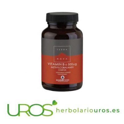 Vitamina B12 Complex - Metilcobalamina Terranova Vitamina B12 Complex (500 ng metilcobalamina) Vitamina B12 en suplemento nautral - metilcobalamina pura - 100 cápsulas de laboratorios Terranova