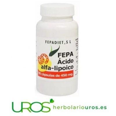 Fepa-Ácido Alfa-Lipoico: propiedades de Ácido alfa lipoico Fepa-Ácido Alfa-Lipoico: Propiedades y Beneficios para tu salud ¿Ácido Alfa Lipoico para qué sirve? Ácido alfa lipoico puro: para reducir los niveles de tu estrés oxidativo - descubre todas sus propiedades