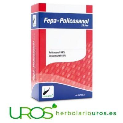 Fepa-Policosanol - para regular tu colesterol de manera natural Fepa-Policosanol de Fepadiet - tu ayuda en casos de colesterol alto Para controlar tu colesterol alto de manera natural y efectiva - Policosanol puro en cápsulas en tu envase grande para dos meses