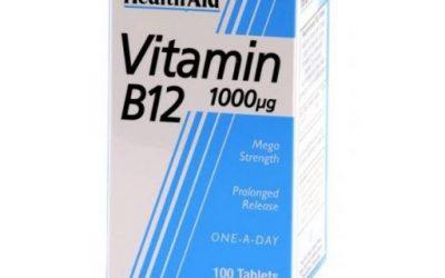 Vitamina B12 HealthAid Vitamina B12 de HealtAid Cianocobalamina 1000 µg Vitamina B12 Vitamina B