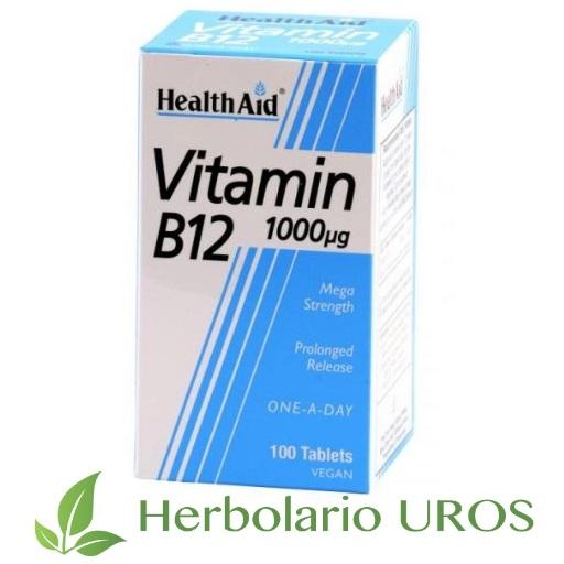 Vitamina B12 de HealtAid Cianocobalamina 1000 µg