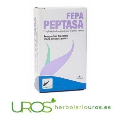 Fepa-peptasa - Serrapeptasa en cápsulas en dosis altas como alivio del dolor natural y antiinflamatorio natural