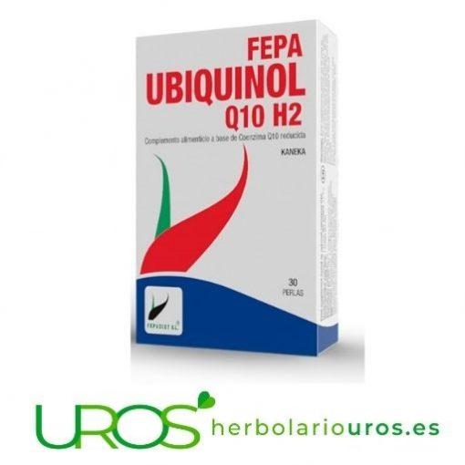Fepa Ubiquinol Q10: La coenzima Q10 pura en cápsulas para aportarte energía y mejorar tu corazón Fepa Q10 - tu energizante natural - tu aporte de energía para tu organismo Tu remedio natural a base de coenzima Q10 para aumentar tu energía y acelerar tu recuperación física en cápsulas en dosis elevadas