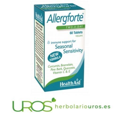 Allergforte HealthAid ayuda natural en alergía - remedio natural Allergforte de HealthAid - alivio de los síntomas de la alergía HealthAid Allergforte (Allergoforte/Alergoforte) - una ayuda natural para la alergía y para aliviar naturalmente sus síntomas