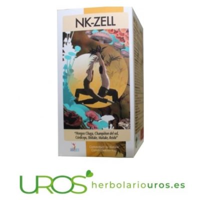 NK Zell - hongos en cápsulas para subir tus defensas naturales NK Zell Lusodiete combinación de hongos para subir tus defensas Hongos en remedio para mejorar tu sistema inmune de manera natural