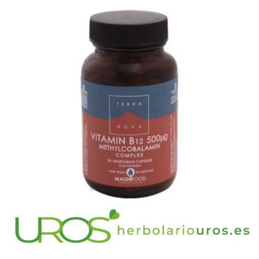 Vitamina B12 complex en cápsulas - metilcobalamina pura Vitamina B12 Complex de Terra Nova - metilcobalamina pura 500 ng metilcobalamina pura por cápsula - un remedio natural para evitar la falta de la vitamina B12 en tu organismo