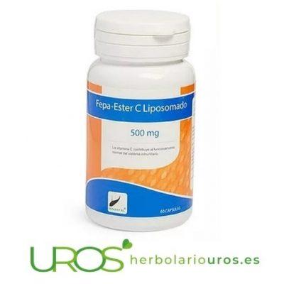 Fepa-Ester C Liposomada 500 mg - Vitamina C liposomada pura en cápsulas para tus defensas naturales