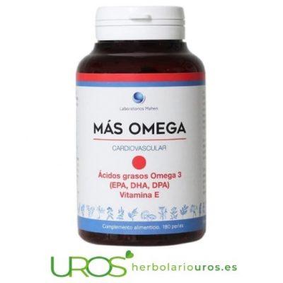 Más Omega 3 Punto Rojo - MÁS OMEGA TRES Un corazón y cerebro sanos y una ayuda para niveles saludables de colesterol Más Omega 3 Punto Rojo - MÁS OMEGA 3 en perlas envase grande Para tu corazón y cerebro sanos y una ayuda para niveles saludables de colesterol
