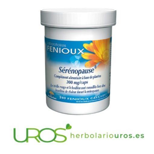 Serenopause - una ayuda en menopausia Serenopause de Fenioux - remedio natural que te ayuda con los sofocos Una ayuda natural con la menopausia, sofocos, sudores, dolores ovarios y de útero