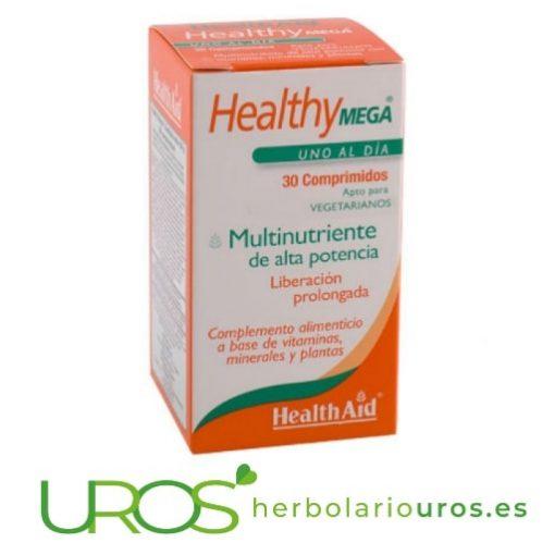 HealthyMega Health Aid - un potente multivitamínico HealthyMega de Health Aid - vitaminas y minerales todo en uno Health Aid te presenta un multivitamínico muy concentrado - Healthy Mega