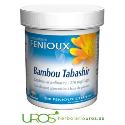 Bambú de Tabashir de Fenioux 200 cápsulas Bambú de Tabashir - silicio para tu sistema articular Un aporte de silicio extra para la salud de tus articulaciones