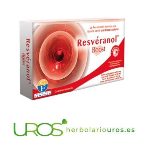 Cápsulas de resveratrol puro: Resveranol boost de Fenioux Resveratrol puro - antioxidantes naturales para tu salud cardiovascular Resveranol Boost en cápsulas de lab. Fenioux - remedio a base de la piel de la uva
