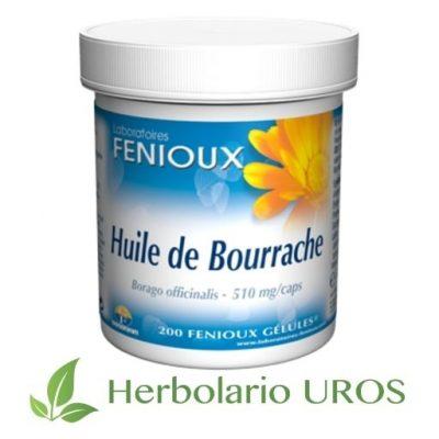Aceite de Borraja en cápsulas de lab. Fenioux Aceite de Borraja - Omega 6 y la vitamina E