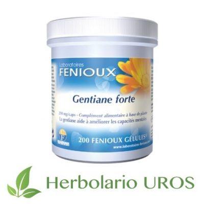 Genciana Forte Genciana Forte Fenioux Gentiana Lutea Genciana cápsulas Genciana en pastillas