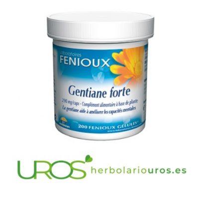 Genciana Forte Fenioux - para tu tranquilidad y relax Genciana Forte pura en cápsulas Genciana Forte de laboratyorios nautrales Fenioux en envase de 200 cápsulas