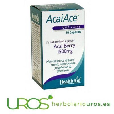 AcaiAce HealthAid: Bayas de Acai en cápsulas AcaiAce HealthAid - bayas de Acai en cápsulas Un aliado para retrasar el envejecimiento - descubre todas las propiedades naturales de acai en cápsulas