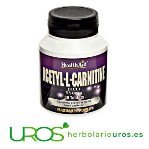 Acetil-L-Carnitina de Health Aid: Carnitina pura en cápsulas Acetil-L-Carnitina pura en cápsulas - suplemento natural para tu energía Suplemento de Acetil-L-Carnitina de Health Aid