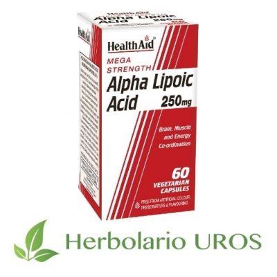 Ácido Alpha Lipoico Äcido Alpha Lipoico HealthAid Ácido Alfa Lipoico