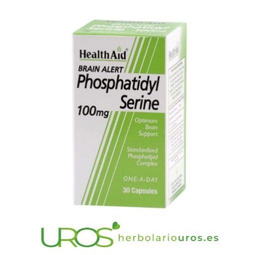 Brain Alert Fosfatidilserina: Phosphatidyl Serine HealthAid Brain Alert - remedio natural de lab. Health Aid Brain Alert: complemento alimenticio a base de fosfatidilserina - una ayuda para el correcto funcionamiento cerebral Brain Alert de laboratorios HealthAid es un suplemento natural