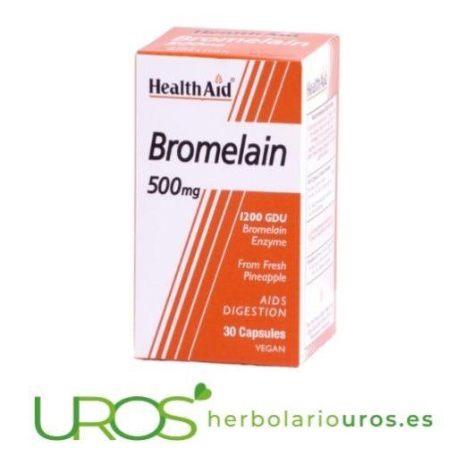 Bromelina pura en cápsulas de lab. Health Aid Un suplemento natural de lab. HealthAid para una mejor digestión