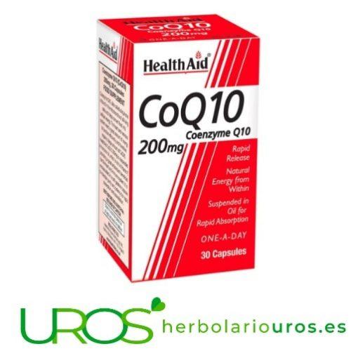 CoQ10 HealthAid: Coenzima Q10 de Health Aid 200 mg CoQ10 HealthAid -Coenzima Q10 pura de Health Aid Coenzima Q10 de laboratorios Health Aid - aporte de energía que necesitas
