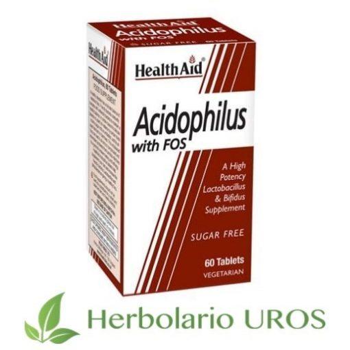 Acidophilus Mega Potency HealthAid Acidophilus con FOS