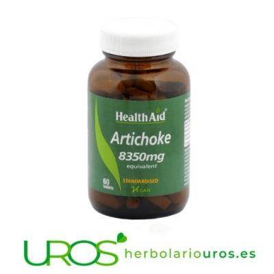 Alcachofera de HealthAid - suplemento natural de alcachofa Remedio natural a base de alcachofera pura en cápsulas de Health Aid Comprimidos de alcachofa -un suplemento natural de laboratorios Health Aid