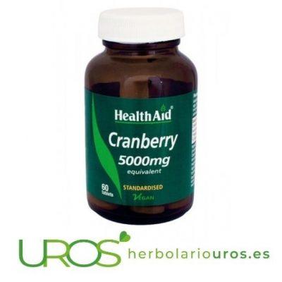 Propiedades y beneficios: arándano rojo en cápsulas Healthaid Remedio natural a base de arándano rojo para paliar las infecciones urianarias y cistitis