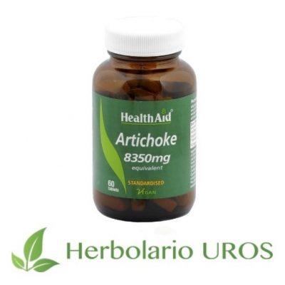 Alcachofera de HealthAid Alcachofera en comprimidos Alcachofera en pastillas Diurético, adelgazante, antioxidante