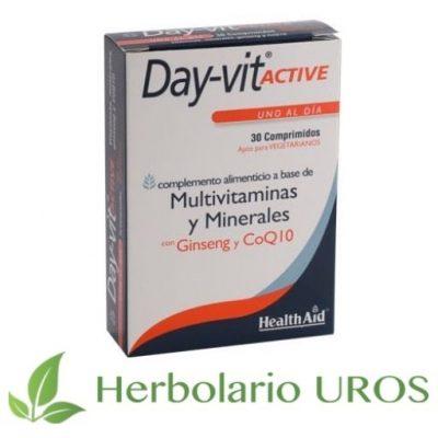 Day-Vit Active HealthAid Suplemento natural para la energía Day-Vit de HealthAid con ginseng y Coenzima Q10
