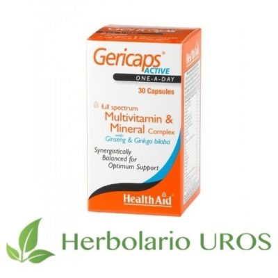 Gericaps Active HealthAid Suplemento natrural Multivitaminico y minerales