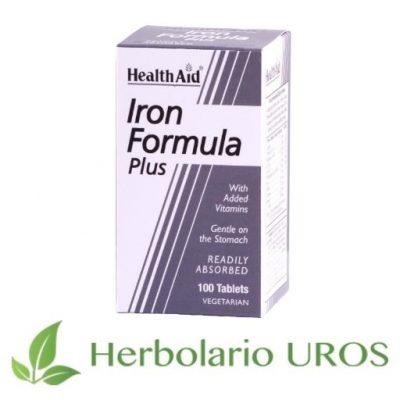 Hierro Complex de HealthAid Hierro en suplemento Comprimidos de Hierro