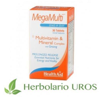 MegaMulti HealthAid Multivitaminico con Ginseng MegaMulti con ginseng