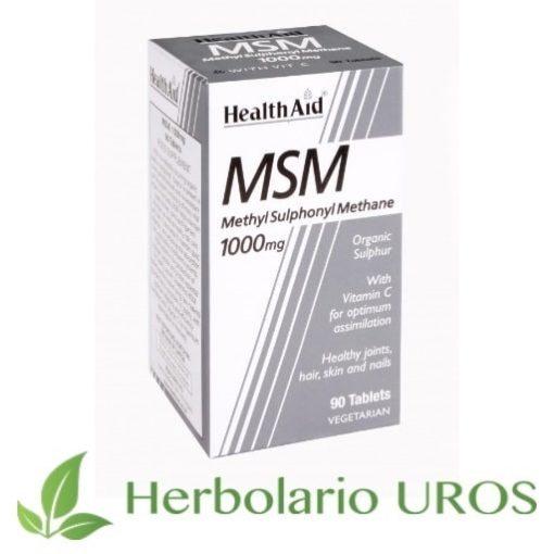 MSM de HealthAid MSM puro en cápsulas Metilsulfonilmetano