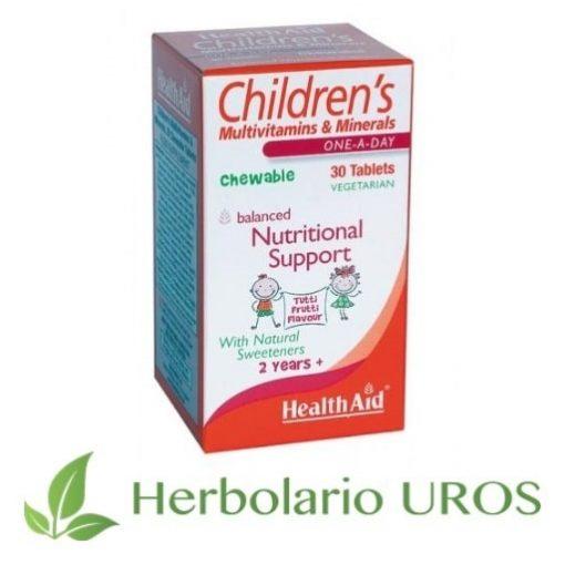 Multinutriente Infantil Children's Multivitaminas Multivitaminico HealthAid