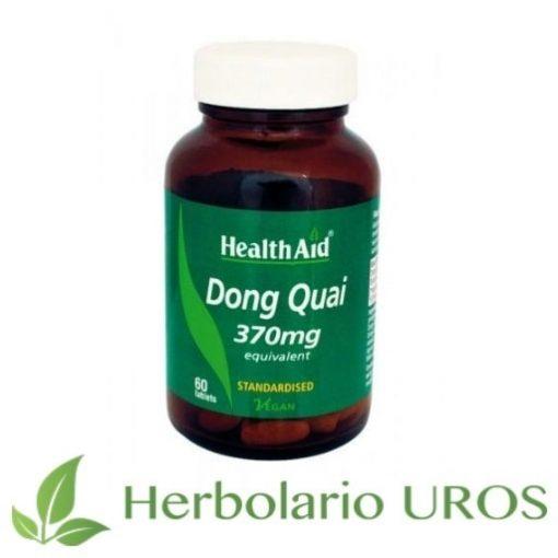 Dong Quai Angelica sinensis regulador hormonal analgésico antiinflamatorio y antiespasmódico