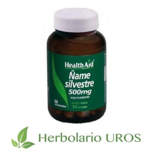 Ñame silvestre de HealthAid - un remedio natural en comprimidos: Ñame 100 % puro